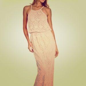 Beach Wedding? Crocheted Boho Maxi EUC- Size 8
